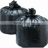 HDPE/LDPE plastic customed heavy duty c-fold garbage/trash/refuse/rubbish bag in roll china manufacturer