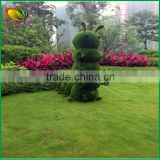 2015 Chinese hottest artificial landscape grass topiary animal glass animal for garden decoration