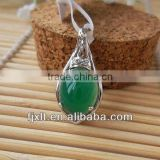 High Quality 925 Sterling Silver Pendant Jewelry with Chalcedony