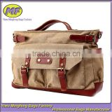 Vintage Style Large Capacity Tote and Shoulder Canvas Khaki Women Briefcase or Business Bag