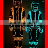 TC-036 full color change light up costume for event,remote controlled tron light suits,blink led light clothes
