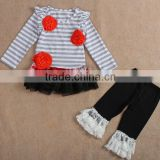 2016 hot sale fashion organic cotton import baby clothes wholesale children's boutique christmas