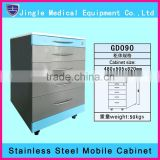 Dental trolley, stainless steel medical cabinet with ABS trays