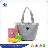 Hot sale wholesale fashion wool felt fabric bags for shopping