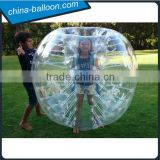 Inflatable ball suit buddy bumper ball for kids, inflatable human soccer body bubble ball