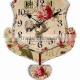 wood art wall pendulum clock
