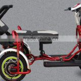 two seat three wheels folding electric bike/ Electric Tricycle Chair model TCP for the old for sale