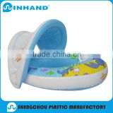 Blue pool float baby swimming rings, sunshade swimming inflatable boat