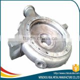 Custom aluminum casting pipe pump housing with sandblasting made in China