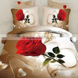 red rose wedding Bedclothes 4pc bedding set 3d queen size for sale