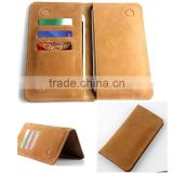 universal wallet genuine leather double phone case cover pouch bags for samsung galaxy note A J E S 1 2 3 4 5 6 7 i9220 pocket