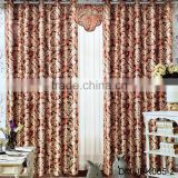 2017 indian style luxury hotel curtains jacquard curtain fabric