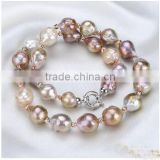 15-17mm width very nice wholesale big size fireball nucleated baroque freshwater pearls