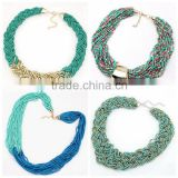 Hot Multicolor beaded beads necklace
