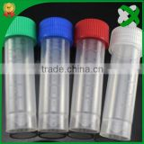 Medical and science lab consumables plastic test tubes 2ml