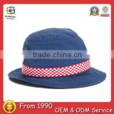 Blue plaid casual nylon short brim golf master fashion summer mens blank custom wholesale bucket hat