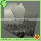 2016 Hot Selling Embossed Metal Sheet Decorative Stainless Steel Sheet for Elevator Ceiling Panel