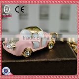Wholesale rhinestone keychains with model car