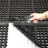High Drainage interlocking Rubber Matting for workstations in wet areas