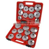 23PCS Cup Type Oil Filter Wrench Set Aluminum Alloy Cup Type Oil Filter Wrench Socket Removal Garage Tool
