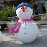 Fiberglass Christmas snowman figurine for park decoration