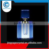 Jingyage unique blue and white color empty perfume bottle crystal glass perfume bottle for women perfume use