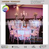 folding glass banquet hall table / round banquet table and chair for sale