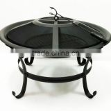Courtyard Steel 28'' Round Fire Pit with Tool Fire Bowl