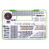 104 piece fantastic drilling tool set in plastic case