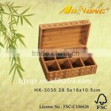 bamboo wholesale tea box/storage tea chest