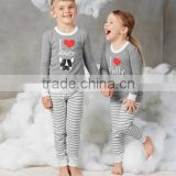 wholesale kids baby boy and girl maching stripe bedding pajamas sets