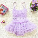 Hot selling swimwear Lace little girl bikini baby girl swimsuits /girls shiny swimsuit