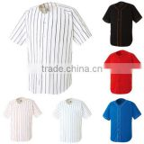 Dry-Fit plain design pin stripe Baseball Jersey Sports Top Uniform T-shirts custom wholesale with best price