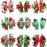 F40641A Christmas style bow bobby pin christmas decoration