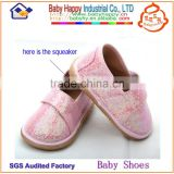 new arrival fashionable pink glitter leather baby girls knitting pattern making shoes for infant
