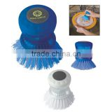 Kitchen Scrub Brush - fill soap reservoir and push top button to release soap onto brush