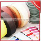 3mm colorful & print knit double face satin ployester ribbon bias binding tape