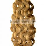 Best quality blonde Italian wave human hair weave extension
