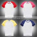 2016 new children cotton t-shirt,blank raglan t-shirt for kid