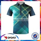 custom mositure wicking men golf shirt sublimated golf apparel