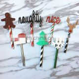 Cute Gingerbread Deer Christmas Party Cupcake Topper Set Christmas Tree Cake Decor