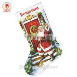 High Quality Cheap Embroidery Burlap Red Christmas Stocking