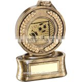 customized antique resin medal fantasy football trophy