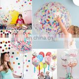 confetti balloon 12 inch 36 inch round clear transparent wedding party confetti balloon