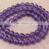 AAA quality 6mm natural amethyst round beads gemstone beads for jewelry gemstone beads in India