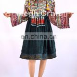 Vintage traditional Kuchi Dress With Tassel - Afghan ethnic tribal dress -Tribal Banjara Kuchi Dress -Afghan kuchi ethnic dress