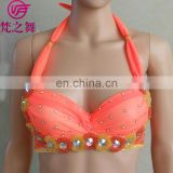 New arrival indian net cloth professional bellydance bra