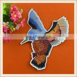 high quality custom embrideried applique/patch bird design iron on for garment/dress/jeans/blouse
