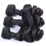 Soft And Smooth  Aligned Weave 18 Inches Bright Natural Curl Color Virgin Human Hair Weave