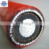 IEC standard 26/35kv XLPE insulated copper tape shielding PVC sheathed steel wire armoured power cable